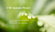 Summer Picnic - May 14 2015 12:30 PM