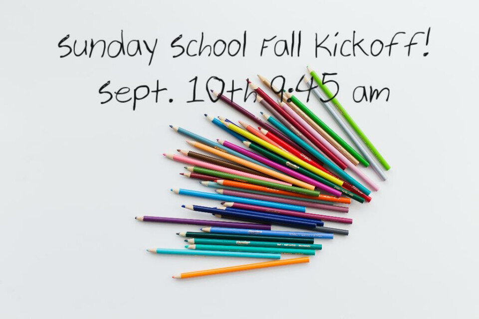 Sunday School Fall Kickoff!