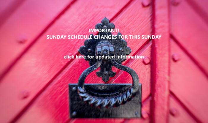 Sunday School Cancelled, 11/19